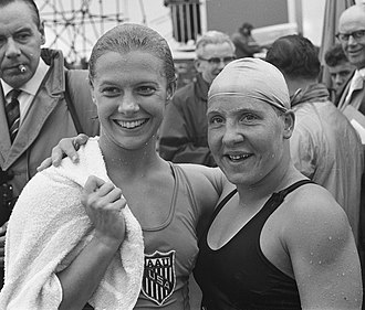 Tineke Lagerberg - Becky Collins and Tineke Lagerberg (right) in 1961
