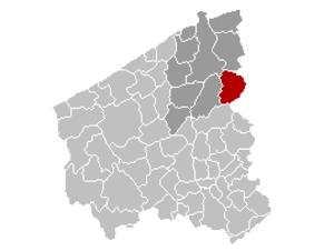 Beernem - Image: Beernem Locatie