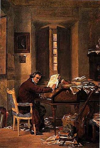 Бетховен за работой дома