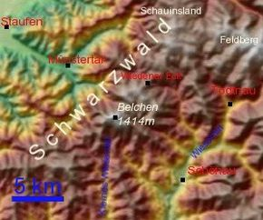 Südschwarzwald Karte.Belchen Schwarzwald Wikipedia