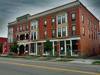 National Register of Historic Places listings in Allegany County, New York - Image: Belmont Hotel 2012 09 29 21 53 27