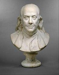 Jean-Antoine Houdon: Bust of Benjamin Franklin