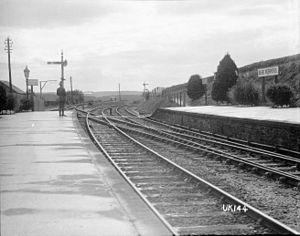 Bere Ferrers rail accident - Bere Ferrers railway station ca. 1918