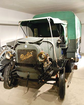 Berliet - Berliet CBA at the Verdun Memorial museum. The CBA became the iconic truck on the Voie Sacrée, supplying the battle front at Verdun during 1916. It continued in production till 1932.