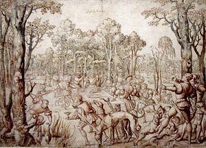 Bernard van Orley - Design for one of the Hunt of Maximilian tapestries