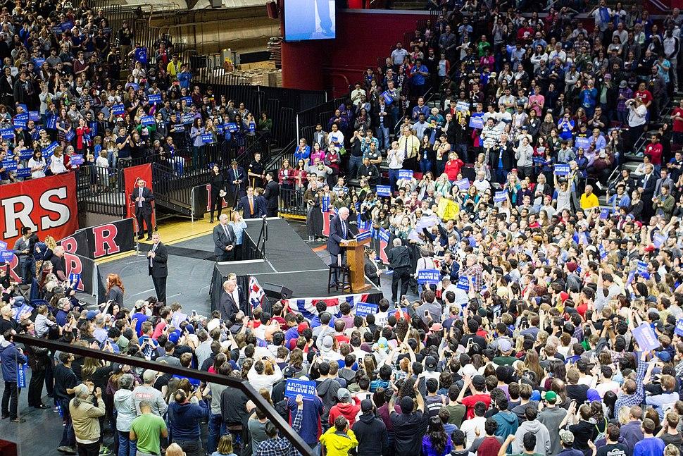 Bernie Sanders at Rutgers, May 2016
