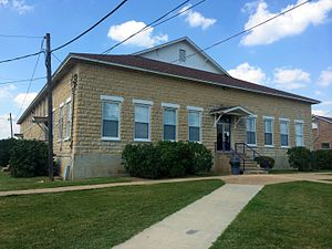 National Register of Historic Places listings in Carroll County, Arkansas - Image: Berryville Gym AR