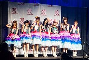 Berryz Kobo - Berryz Kobo in 2012. From left to right: Saki Shimizu, Momoko Tsugunaga, Chinami Tokunaga, Maasa Sudo, Miyabi Natsuyaki, Yurina Kumai, and Risako Sugaya.