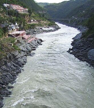 Bhagirathi River - Image: Bhagirathi alaknanda ganges devprayag 2008