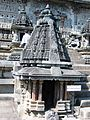 Bhumija type tower over miniature shrine at entrance to the Chennakeshava temple at Belur.jpg