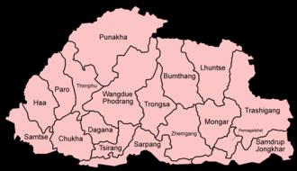 Dzongkhag - Districts of Bhutan, 1987–1992.
