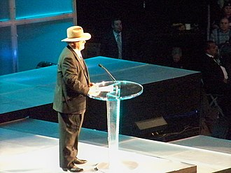 Bill Watts - Watts being inducted into the WWE Hall of Fame in 2009.