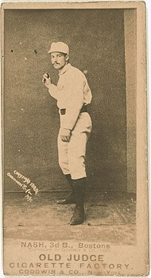 Billy Nash, Boston Beaneaters, baseball card portrait LCCN2007685693.jpg