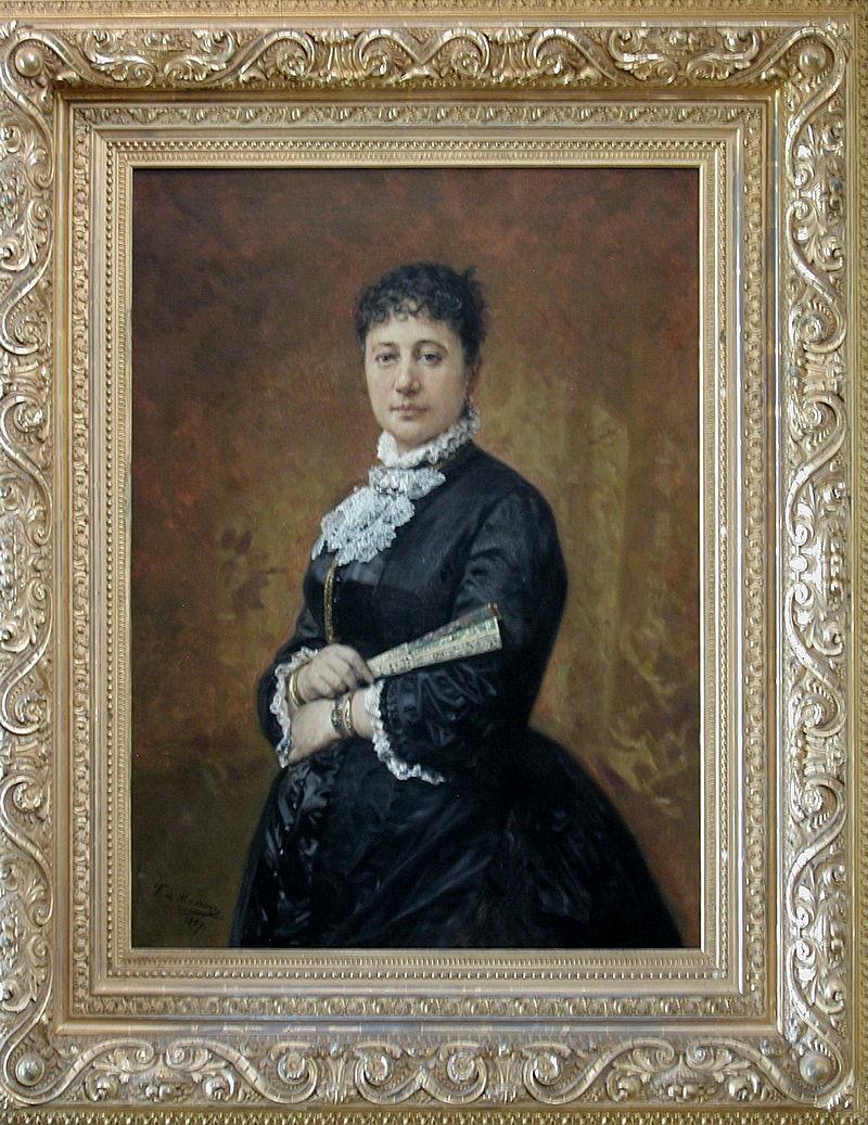 Bishop Museum - Kahili Room - 'Portrait of Bernice Pauahi Bishop' by Frederico de Madrazo.jpg