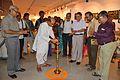 Biswatosh Sengupta - Inaugural Lamp Lighting - Atanu Ghosh Solo Exhibition - Kolkata 2014-09-16 8100.JPG