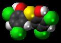 Bithionol molecule spacefill.png