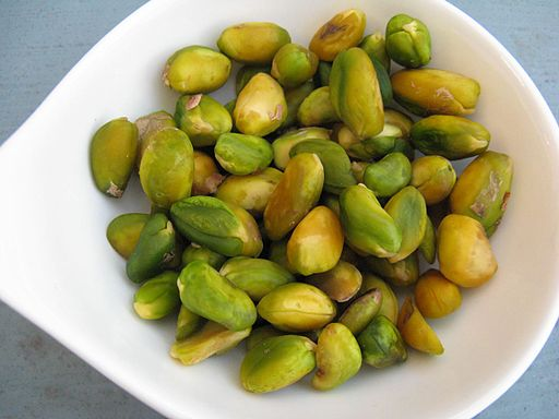 Blanched pistachios