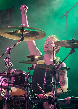 Bleed from Within - Drummer Ali Richardson in Nuremberg in 2013