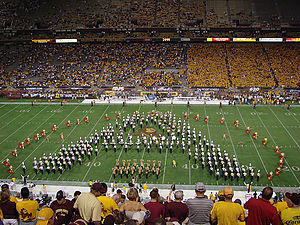 Sun Devil Marching Band - 2007 SDMB Block A Formation during Pregame