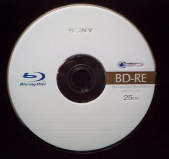 Blu-ray - A blank rewritable Blu-ray Disc (BD-RE)