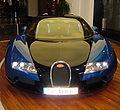 Blue Bugatti Veyron front.JPG