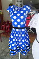 Blue polka dot dress - Da Nang, Vietnam - DSC02419.JPG