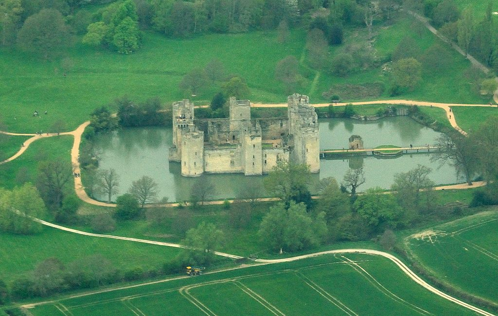 Aerial View of Bodiam Castle, East Sussex, England