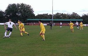 Littleton F.C. - Littleton (in white) playing Bolehall Swifts in 2013