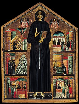 Bonaventura Berlinghieri - Bonaventura Berlinghieri, Saint Francis of Assisi, 1235