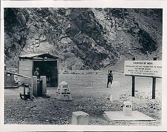Afghanistan–India relations - Border crossing between British India and Afghanistan in 1934
