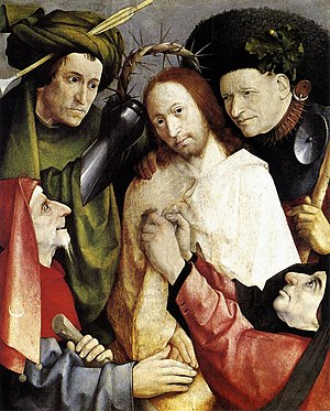 Christ Crowned with Thorns (Bosch, London) - Image: Bosch Christ Crowned With Thorns 1495 1500Version