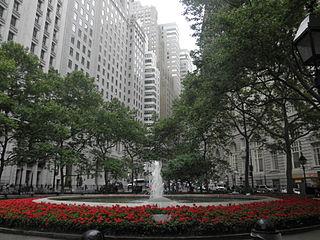 Bowling Green (New York City) Public park in Manhattan, New York