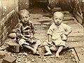 Boys awaiting meal in Byoritsu 1939.jpg