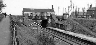Brandon, County Durham - Brandon Colliery railway station in May 1965, the year after it closed.