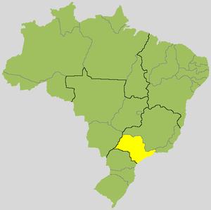 sao paulo brasilien karte São Paulo (Bundesstaat) – Reiseführer auf Wikivoyage