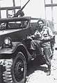 Brazilian soldiers posing in front of their M3 Halftrack, Italy WWII.jpg