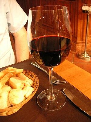 Red Argentine wine