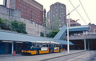 Convention Place station - Image: Breda 5234 at south platform of Convention Place station in 2000