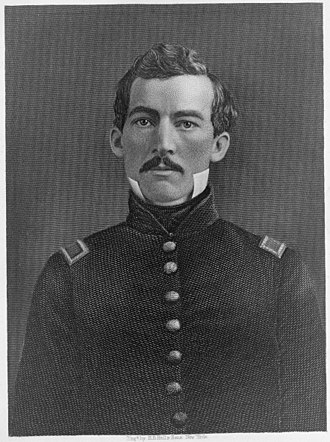 Philip Sheridan - Brevet Second Lieutenant Philip Sheridan engraving by H. B. Hall