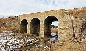 National Register of Historic Places listings in Las Animas County, Colorado - Image: Bridge over Burro Cañon