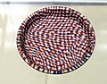 British Museum Roman Empire 18022019 Dish of mosaic glass with a blue red and white chequerboard design 5911.jpg