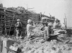British and French artillery observers Battle of Langemarck 1917 IWM Q 2723