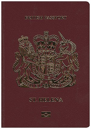 British passport (Saint Helena) - The front cover of a British passport issued to British Overseas Territories citizens of Saint Helena.