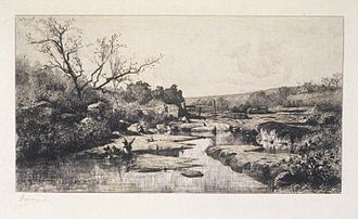 Adolphe Appian - Image: Brooklyn Museum The Source of the Albarine (Source de l'Albarine) Adolphe Appian