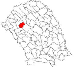 Location of Broscăuți, Botoșani
