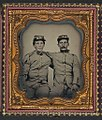 Brothers Private Henry Luther and First Sergeant Herbert E. Larrabee of Company B, 17th Massachusetts Infantry Regiment LOC 5228598139.jpg