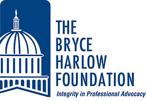 "Bryce Harlow - The logo of the Bryce Harlow Foundation with its tagline: ""Integrity in Professional Advocacy."""