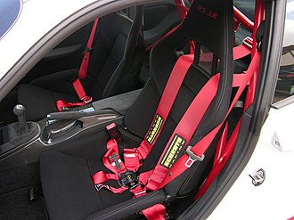 Bucket seat - Image: Bucket seat with Schroth six point harness in a 2010 Porsche 997 GT3 RS 3.8