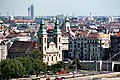 Budapest, view from Buda Castle to the Inner City Parish Church.jpg