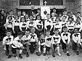 Budapest XII., Apor Vilmos tér, a Felső-krisztinavárosi Keresztelő Szent János plébánia templom előtt. Fortepan 57914.jpg